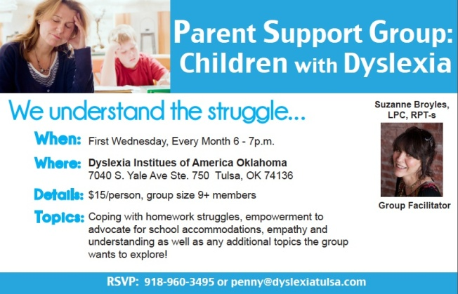 Parent Support Group: Children with Dyslexia